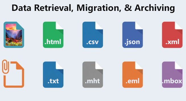 Data retrieval, migration, and archiving